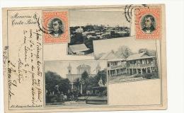 Memorias De Costa Rica No 5 Maria V. De Lines Limon Stamped 1905 To France - Costa Rica