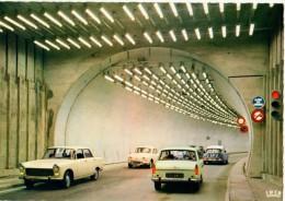 74-----CHAMONIX-MONT BLANC--tunel.......(voitures 404 ---D S----DAUPHINE.)-voir 2 Scans - Chamonix-Mont-Blanc