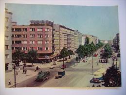 Poland: Warszawa Varsovie: Ulica Pulawska Street - Old Truck Bus Tram Traffic - Unused - Pologne