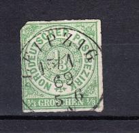 """NDP Norddeutscher Postbezirk 1/3 Gr. Michel 2 1868 - 1 Kreis """"Leipzig"""" 15/7 69 - Norddeutscher Postbezirk"""