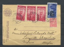 Romania 1948 Postal Card To England - Covers & Documents