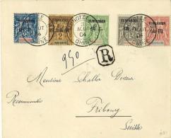 Lettre Recommandée De Yunnanfou Pour La Suisse 1904 Signée Calves ; Cachet Mongtseu B - Lettres & Documents