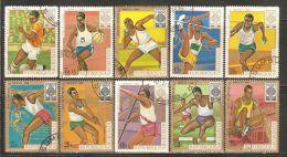 Burundi 1968 Mi# 446-455 A Used - 19th Olympic Games, Mexico City - Verano 1968: México