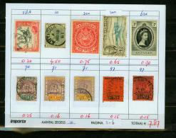 Britsh Colonies,10V,small Restlot  See Scan(UBEG1-6) - Groot-Brittannië (oude Kolonies En Protectoraten)
