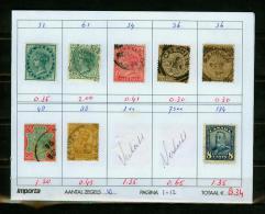 Britsh Colonies,8V,small Restlot  See Scan(UBEG1-12) - Groot-Brittannië (oude Kolonies En Protectoraten)