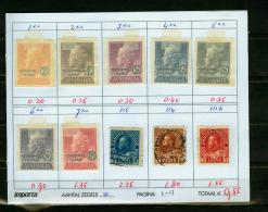 Britsh Colonies,10V,small Restlot  See Scan(UBEG1-13) - Groot-Brittannië (oude Kolonies En Protectoraten)