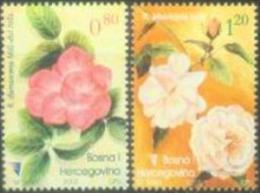 BH 2005-385-6 ROSES, BOSNA AND HERZEGOVINA, 2v, MNH - Rosen