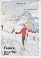 JEUX OLYMPIQUE CP  GRENOBLE  1968  FRANCE LES 2 ALPES - Sports D'hiver