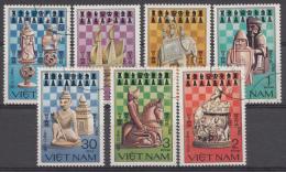 VIETNAM MI.NR.1335-1341 SCHAKEN SCHACH USED / GEBRUIKT / OBLITERE 1983 - Viêt-Nam