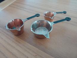 Casserole Miniature Cuivre (diam Cul 20mm, 15mm Et 10mm ; L : 50mm, 45mm Et 36mm) 3 Pièces (voir Scan) - Furniture