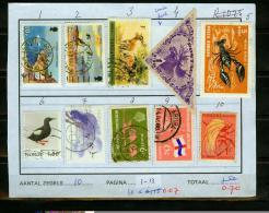 Fauna,10V. Small Restlot, See Scan (FA1-13) - Vogels