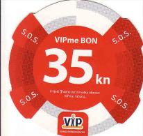 Croatie, VIPme BON 35 Kn, Recharge - Kroatien