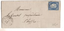 Chateauneuf Sur Sarthe (47) C.à.d.  1876...texte.... - 1849-1876: Période Classique