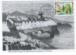 Marcofilia FORMIA (LT) Marcophilie - Annullo Celebrativo Del 150° Anniversario Dell´unità D´Italia Circolo Cicerone - Andere Steden