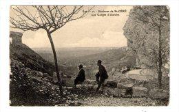 Cp , 46 , Environs De SAINT CERE , Les Gorgesd'AUTOIRE , Vierge - France