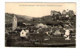 Cp , 46 , VAILLAC , Vue Générale Et Le Château , Vierge - Other Municipalities