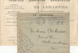 LAC FM REG ZOUAVES FORT DE L EST CAD PARIS 26/9/1918 POUR  ENTRECASTEAUX VAR - 1921-1960: Periodo Moderno