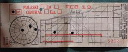 "Billet Tramway De De Chicago "" Pulaski-Central"" 19 Feb - World"