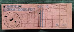 """Billet Tramway De De Chicago """" Roodeveelt-Cermak"""" Dec 15 - Tramways"""