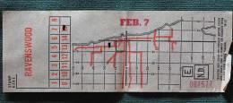 """Billet Tramway De  Chicago """" Ravenswood """"feb7 - Tramways"""