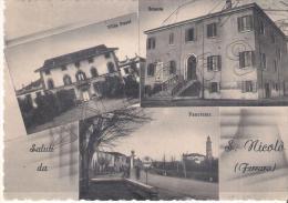 Ferrara - Saluti Da  S. Nicolò (Ferrara)    +    Pompa  Benzina - Ferrara