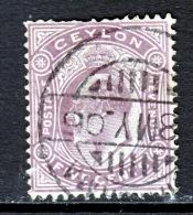 Ceylon 181    (o)  Wmk 3 CA  Multi   1904-10  Issue - Ceylon (...-1947)