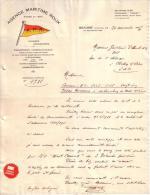 CÔTE D´OR - BEAUNE - TRANSPORTS FER MER AIR - DEMENAGEMENTS - AGENCE MARITIME ROUX - LETTRE - 1937 - Frankreich