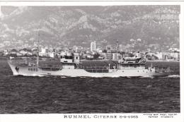 Bateau Marine Nationale Militaire A 635 Rummel Citerne 6-9-1965    Marius Bar Equipage - Guerre