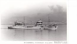 Bateau Marine Nationale Militaire A 635 Rummel Citerne  15-4-1970   Marius Bar Equipage - Guerre