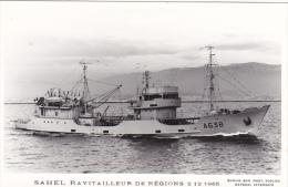 Bateau Marine Nationale Militaire A 638 Ravitailleurs De Regions Sahel Année 2-12-65  Marius Bar Equipage - Guerre