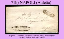 Auletta-00071b - Piego (senza Testo) Del 12 Novembre 1840 - - Italia