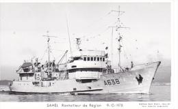 Bateau Marine Nationale Militaire A 638 Ravitailleurs De Regions Sahel 9-10-1978  Marius Bar Equipage - Guerre