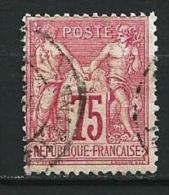 "YT 71 "" Sage Type I 75.c  Carmin "" 1876-78 Cachet à Date - 1876-1878 Sage (Type I)"