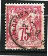 "YT 71 "" Sage Type I 75.c  Carmin "" 1876-78 CHARGEMENT Rare - 1876-1878 Sage (Type I)"