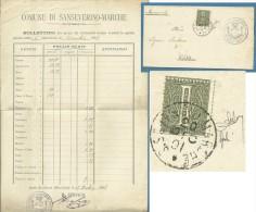 REGNO   1 C. VARIETA' SU PICCOLO MANIFESTO PREZZI GENERI ALIMENTARI COMUNE DI SANSEVERINO MARCHE - 20/12/1901 - Marcophilia