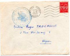 T P ( Vaguemestre Cachet Régiment De Chasseur D'Afrique ) ( Maison - Carrée 1955 ) - Poststempel (Briefe)