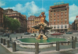 ROMA - PIAZZA BARBERINI E  FONTANA BERNINI- NUOVA- ANIMATA - Piazze
