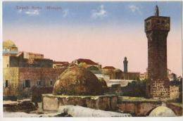CPA LIBAN LEBANON TRIPOLI TARABULUS Mosqu�e carte coloris�e 1923