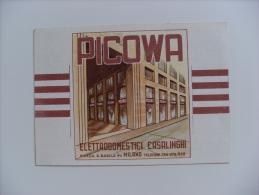 Calendario/calendarietto PICOWA Elettrodomestici Casalinghi MILANO. 1952 - Calendari