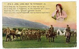 CARTOLINA  - IT'S A LONG LONG WAY TO A TIPPERARY  -  VIAGGIATA NEL 1915 - SECONDA SCELTA - Manovre