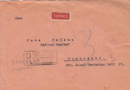 KING MICHAEL, CONSTANTA HARBOUR, SHIPS, REVENUE STAMP, STAMPS ON REGISTERED COVER, 1948, ROMANIA - 1948-.... Républiques