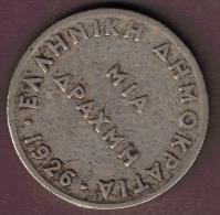 GRECE 1 DRACHMA 1926 - Grèce