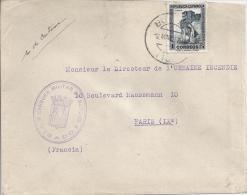 Censure Militaire De Burgos Pour La France - Marcofilie (Brieven)