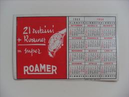 Calendarietto/calendario 1953/1954 Campionato Calcio SERIE A Divisione Nazionale. Orologi ROAMER - Calendari