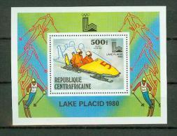 Centrafricaine 1979,1V In Block,Lake Placid,wintersport,MNH/Postfris, (E1545) - Winter 1932: Lake Placid