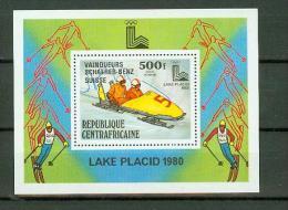 Centrafricaine 1980,1V In Block,Lake Placid,wintersport,MNH/Postfris, (E1547) - Winter 1932: Lake Placid