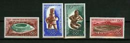 Dahomey 1968,4V,olympic Games Mexico,olymp. Spelen,Read/lees,MNH/Postfris,(E3317 - Zomer 1968: Mexico-City