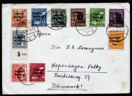 A2244) SBZ 2 Briefe Von Stralsund 4.8.1948 Mit Marken Aus Mi.183-197, Dabei Teil-HAN - Sowjetische Zone (SBZ)