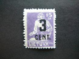 Lietuva Litauen Lituanie Litouwen Lithuania # 1922 * MH # Mi. 158 - Lituanie