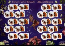 GREAT BRITAIN - 2008  FLOWER FAIRIES  GENERIC SMILERS SHEET   PERFECT CONDITION - Fogli Completi